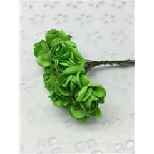 Букетик роз бумажный цвет: зеленый (green). Размер цветка 15мм