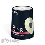 Носители информации TDK CD-R 700Mb 52x Cake/100