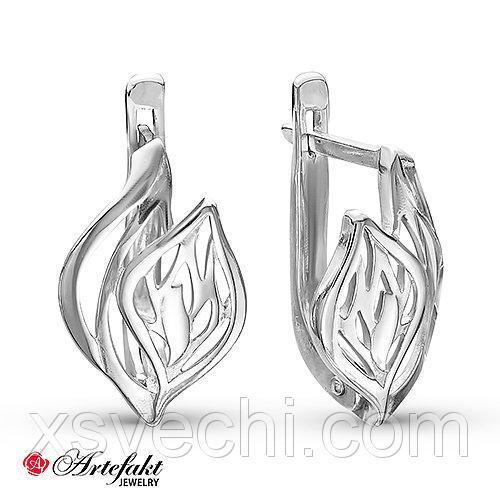 Серебряные серьги - 507
