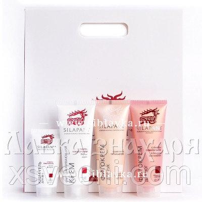 Подарочный набор «SILAPANT» №3 Крем для лица + крем-гель для кожи вокруг глаз + фитокрем для рук + фитокрем для ног