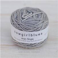 Пряжа Aran Single solid Серебряная лиса, 120м/100г, Cowgirlblues, Silver Fox