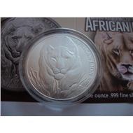 Чад 5000 франков 2017 Африканский лев СЕРЕБРО