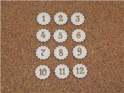 Набор фишек  цифр от 1 до 12