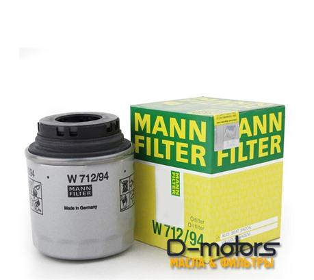 Фильтр масляный MANN W712/94 для VW POLO седан