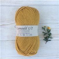 Пряжа Lamauld Желтый Карри 6400, 100м/50г, CaMaRose, Karrygul