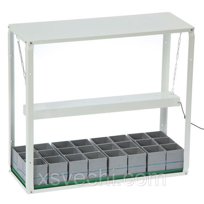Домашний огород LED, стакан модульный 24 ячейки по 350 мл (со светодиодным фито освещением)
