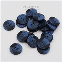 Пуговица 27 мм, цвет сине-черный, пластик, арт. 502522