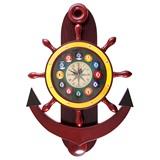 """Часы настенные """"Якорь"""" 40 см х 61 см, деревянные, интернет-магазин товаров для бильярда Play-billiard.ru"""