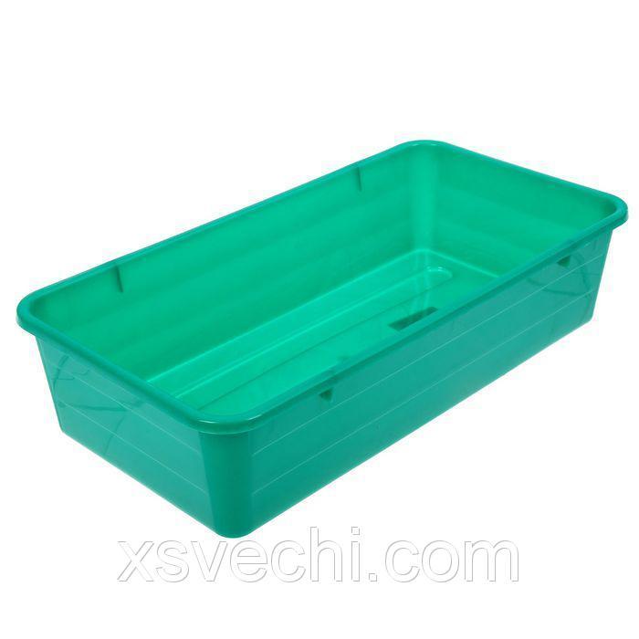 Ящик для рассады, 40 х 20.5 х 9.5 см, зелёный
