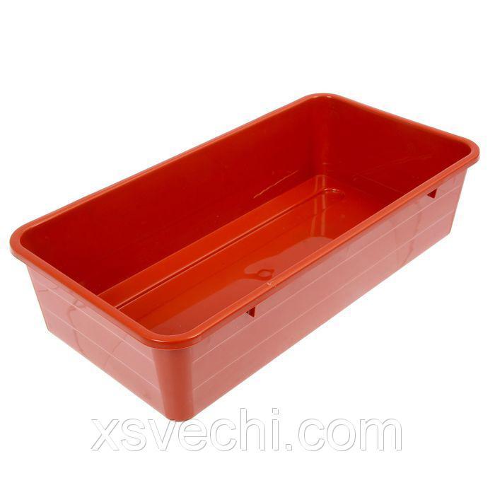 Ящик для рассады, 40 х 20.5 х 9.5 см, терракотовый