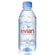 Evian 0,33 упаковка минеральной воды - 24 шт