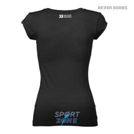 Футболка женская Better bodies Womens V-tee,  черная