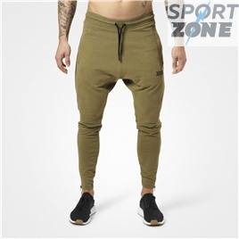 Спортивные брюки Better Bodies Harlem Zip Pants, Military Green