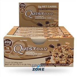 Батончик протеиновый QuestBar QuestBar Oatmeal Chocolate Chip (12 шт)