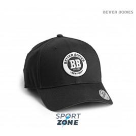 Кепка мужская Better Bodies Mens baseball cap, черная с серым