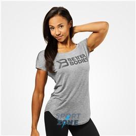 Футболка Better Bodies Gracie Tee, Grey Melange
