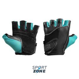 Спортивные перчатки Better Bodies Womens fitness gloves, черные с голубым