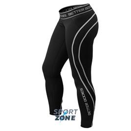 Спортивные леггинсы Better bodies Athlete tights, черный/серый