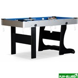 """Складной бильярдный стол для пула """"Team I"""" 5 ф (черный) ЛДСП, интернет-магазин товаров для бильярда Play-billiard.ru"""