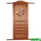 Киевница навесная с полкой для шаров (орех, 137 х 99 х 8 см), интернет-магазин товаров для бильярда Play-billiard.ru
