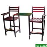 Кресло бильярдное x 2, со столешницей (махагон) 90.005.00.1, интернет-магазин товаров для бильярда Play-billiard.ru