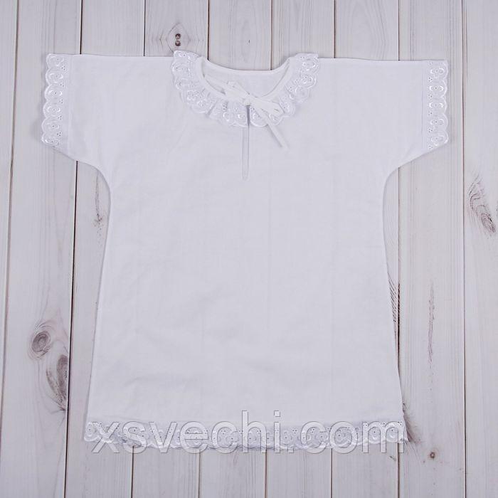 Рубашка крестильная для девочки, рост 86-92 см, цвет белый К7/2