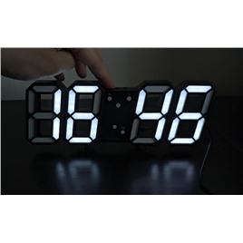 3D LED Электронные настольные/настенные 3D LED часы (зеленые символы)