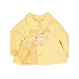 Велюровая курточка для девочки с бантиками