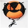 """Надувные санки тюбинг/ватрушка """"Черно-оранжевый"""" диаметр 100 см. Быстрик"""