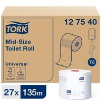 Туалетная бумага Tork Mid-size Universal в миди рулонах (T6), 127540