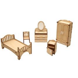 """ХэппиДом Мебель для кукольного домика ХэппиДом """"Спальня"""" из дерева"""