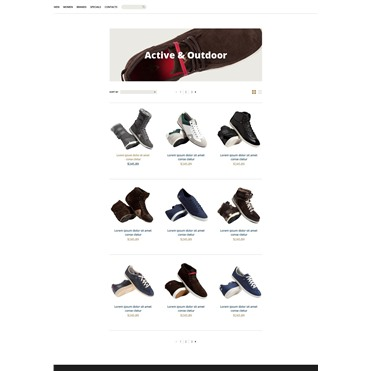 With this template you can start an online store related to shoes, designers shoe styles, athletic shoes and gear selling industry.