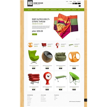 Responsive Home Decor Store