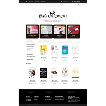Responsive Cards Store