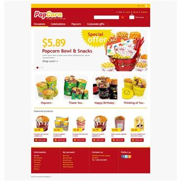 Responsive Pop Corn Store