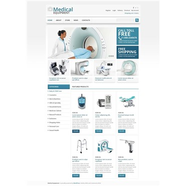 Responsive Medical Equipment Store