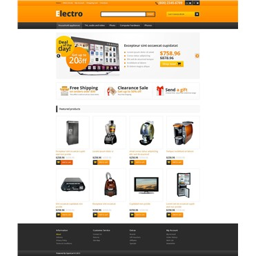 Responsive Electro Store