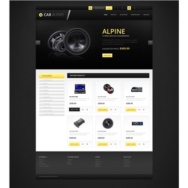 Responsive Car Audio Store