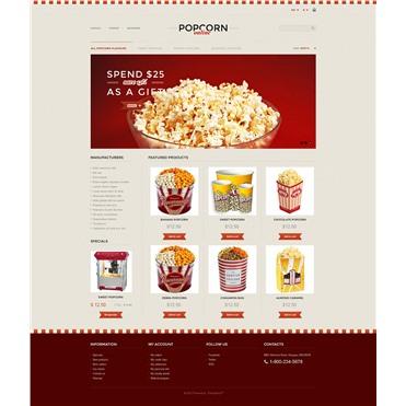 Responsive Popcorn Store