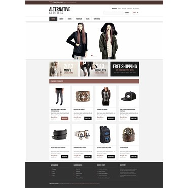 Responsive Alternative Clothes Store