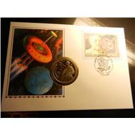 1 рубль Циолковский пруф в конверте