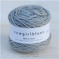 Пряжа Merino Sock solid Серебряная лиса, 160м/50г, Cowgirlblues, Silver Fox