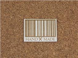 Шильдик картонный Handmade со штрихкодом
