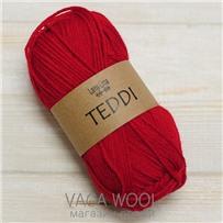 Пряжа Teddi, Красный, 110м в 50г, альпака, Перу