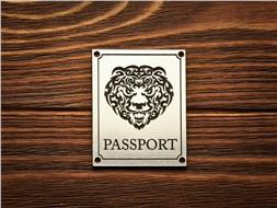 """Шильдик Passport """"Голова медведя"""""""