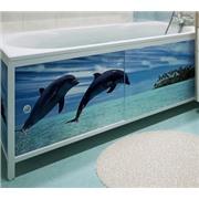 Экран (зашивка) под ванну Дельфины 1,7 м