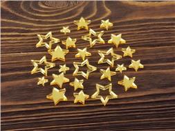 Набор золотистых звездочек из зеркального акрила