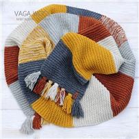 Набор для шарфа Vana Tallinn желто-рыжий из пряжи Pastorale