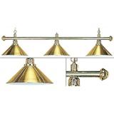 Лампа на три плафона «Elegance» (золотистая штанга, золотистый плафон D35см), интернет-магазин товаров для бильярда Play-billiard.ru