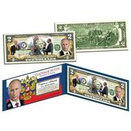 Банкнота 2 доллара Владимир Путин